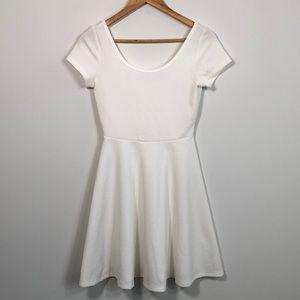 White spring summer skater dress medium